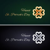 Simple St Patricks Day Cards with Golden and Stock Image