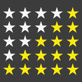 Simple star rating. With outlines makes the stars pop out from background stock illustration