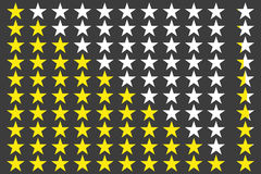 Simple star rating. With outlines makes the stars pop out from background Stock Photos