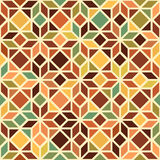 Simple star shape geometric seamless pattern in shades of beige, vector Stock Photography