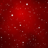 Simple Starry Dark Red Sky with Bright Simple Stars Stock Photo