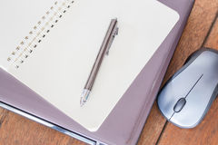 Simple stationary on table at workplace Stock Images