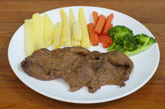 Simple steak. Simlple steak for simple day Royalty Free Stock Photography