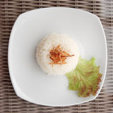 Simple steamed rice served as side dish Royalty Free Stock Images