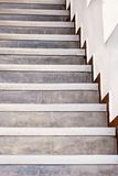 Simple steep staircase Stock Photo