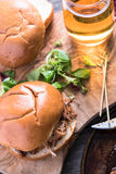 Simple steet food, pulled pork bap Royalty Free Stock Images