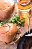 Simple steet food, pulled pork bap royalty free stock images
