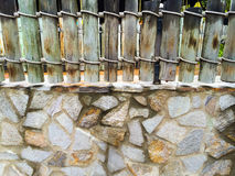 Simple Stone Fence Abstract Stock Image