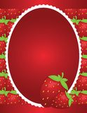 Simple Strawberry Background Design Stock Photos