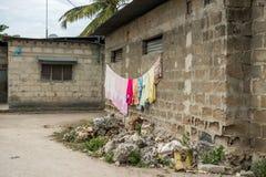 Simple street in african village. Zanzibar, Africa Stock Photos