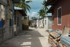 Simple street in african village Royalty Free Stock Photography