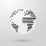 Simple striped earth Stock Photo