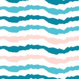 Simple striped pattern. Horizontal wavy lines on a white backgro Royalty Free Stock Photos