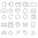 Simple Stroked icon set Stock Photos