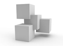 Simple structure of a stack of cubes to represent teamwork Stock Photos