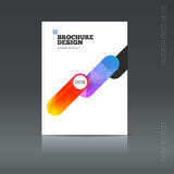 Simple style brochure. Flyer promotion. Royalty Free Stock Image