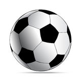 Simple style football. soccer ball  on white background Stock Photos
