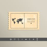 Simple style pixel icon continents. Vector design Stock Photos