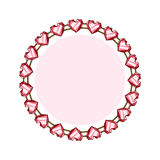 Simple style round jewelry frame template Stock Photography
