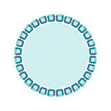 Simple style round jewelry frame template Royalty Free Stock Photos