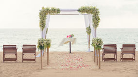 Simple style wedding arch Royalty Free Stock Images