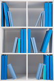 Simple style white bookcase Stock Photos