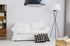 Simple but stylish decor of a contemporary apartment royalty free stock images