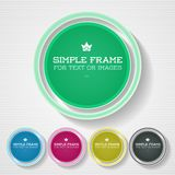 Simple Stylish Frame Royalty Free Stock Photos