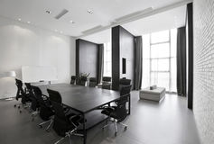 Simple and stylish office environment Royalty Free Stock Photos