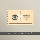 Simple stylish pixel eye icon. Vector design Royalty Free Stock Image