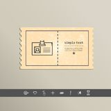 Simple stylish pixel icon cards. Vector design Stock Photography
