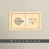 Simple stylish pixel icon darts. Vector design Royalty Free Stock Photo