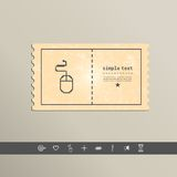 Simple stylish pixel icon mouse. Vector design Stock Photos