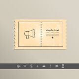 Simple stylish pixel speaker icon. Vector design.  Royalty Free Stock Photos