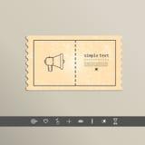 Simple stylish pixel speaker icon. Vector design Royalty Free Stock Photos