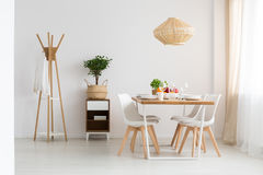 Dining room in apartment Royalty Free Stock Photos