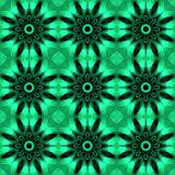Green seamless abstract pattern. Simple stylish texture. Regular pattern. Illustration Royalty Free Stock Image