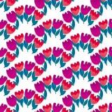 Simple stylish tulip flower seamless, Royalty Free Stock Image