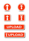Upload web button stock royalty free stock image
