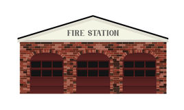 Fire Station. A simple stylized Fire Station building illustration Stock Photos