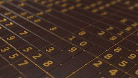 Simple sudoku game. 3d illustration. Golden numbers version Royalty Free Stock Image