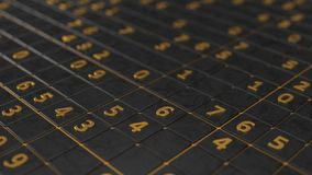 Simple sudoku game. 3d illustration. Golden numbers version Stock Images
