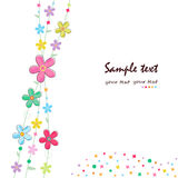 Simple summer flowers decorative greeting card Royalty Free Stock Photos