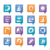 Simple Summer and Holiday Icons Royalty Free Stock Image