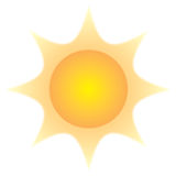 Simple sun Royalty Free Stock Photography