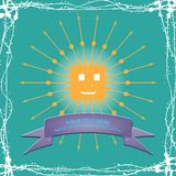 Simple sun cartoon illustration Royalty Free Stock Images