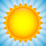 Simple sun clip-art, illustration for summer, weather, nature, o Royalty Free Stock Photo
