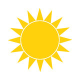 Simple sun icon Stock Photography