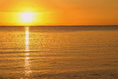 Simple sunset. Sunset in the Mauritius island, Indian ocean stock images