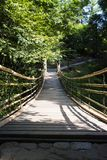 Simple suspension bridge royalty free stock photography